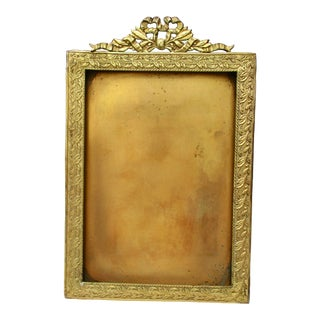 1940's B. Altman Brass Photo Frame For Sale