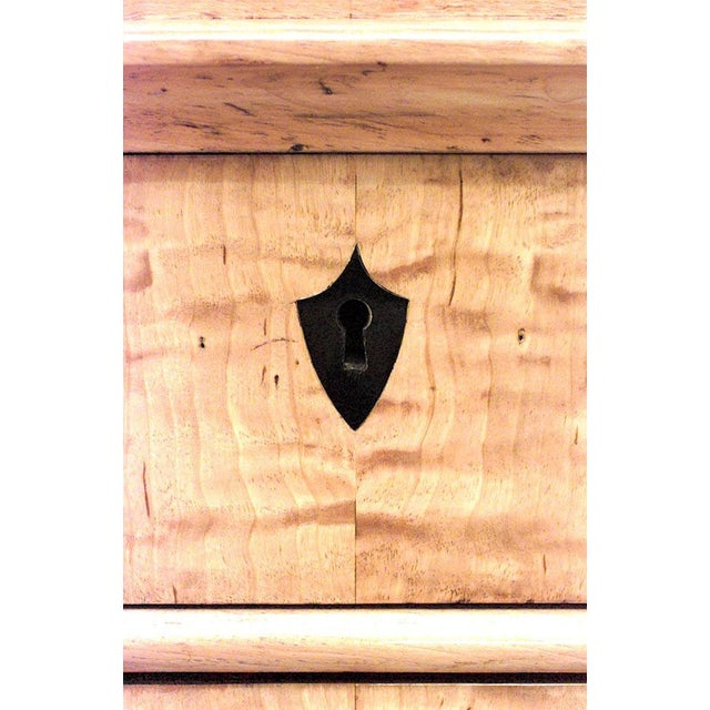 Biedermeier Swedish Biedermeier Maple Chest of Four Drawers For Sale - Image 3 of 5