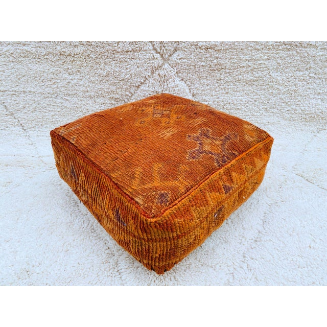 Boujaad Handmade Pouf Cover For Sale - Image 13 of 13