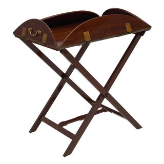 English Campaign Style Tray Table For Sale