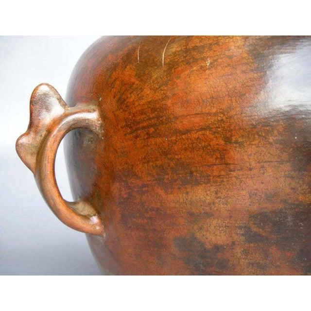 Rustic Antique Ceramic Florero Pot For Sale - Image 3 of 6