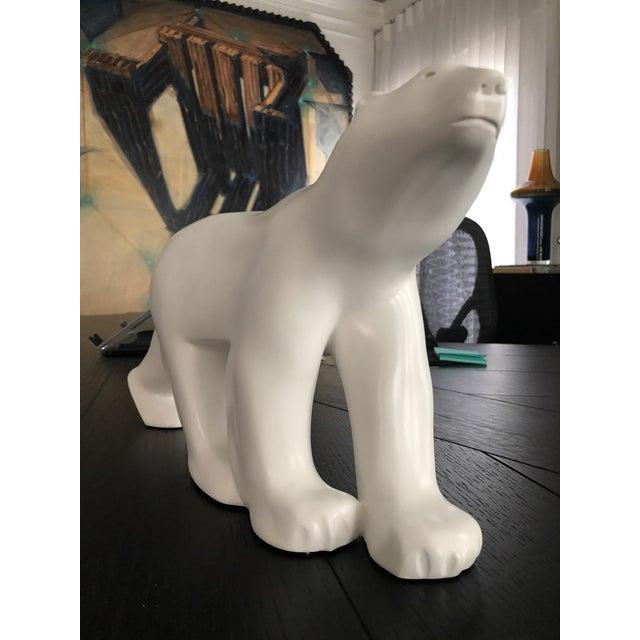 White Vintage Christopher Guy Polar Bear For Sale - Image 8 of 11