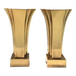 Pair of Art Deco-Inspired Brass Accent Lamps by Stiffel