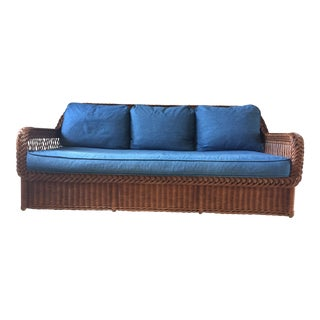 Bielecky Brothers Wicker Sofa For Sale