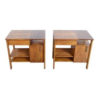 John Widdicomb Mid-Century Modern Walnut Nightstands - a Pair For Sale