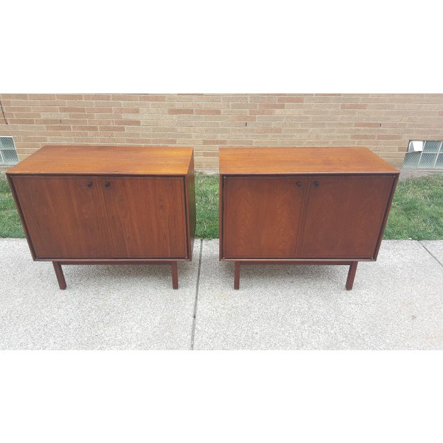 Milo Baughman for Arch Gordon Walnut Cabinets - A Pair - Image 2 of 11