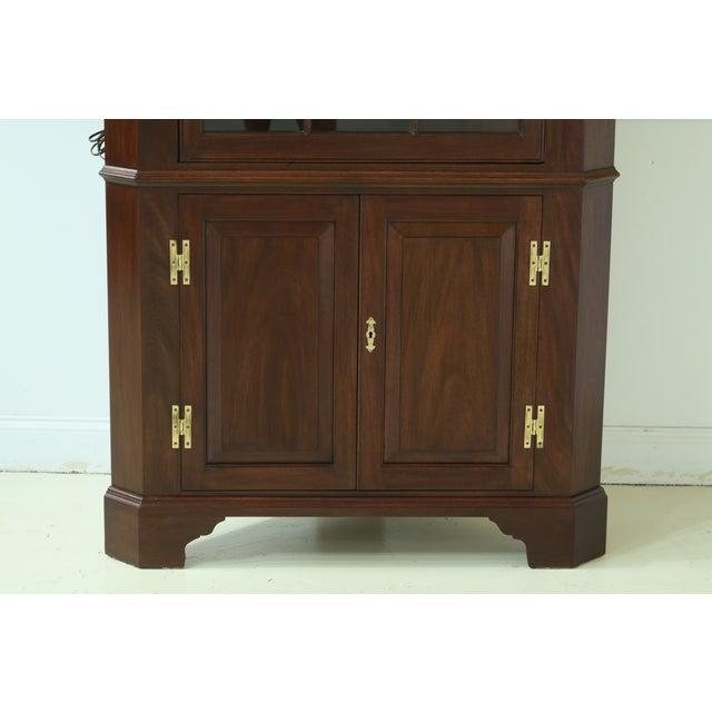 Item: 49835EC: HENKEL HARRIS Model 1114 Mahogany Large Corner Cabinet Age: C.1976 Details: Finish No. 29 Model 1114...