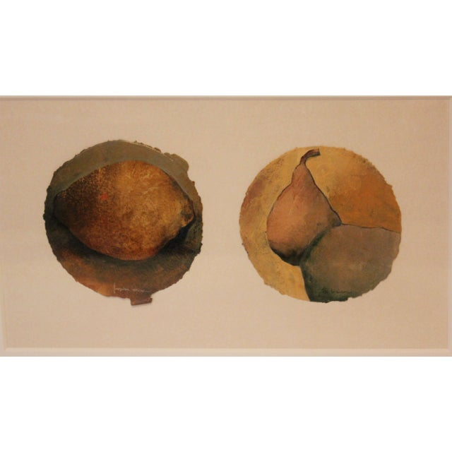 Small Oil Painting of Pears on Paper For Sale - Image 4 of 7