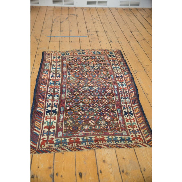"""Old New House Antique Caucasian Rug - 3'2"""" X 5'5"""" For Sale - Image 4 of 9"""