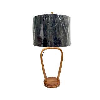 Mid Century Rattan Tiki Style Lamp For Sale