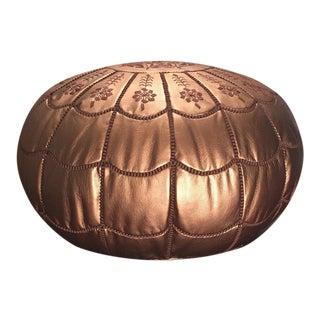 Full Arch, Pouf, Ottoman, Bronze, Moroccan Pouffe, Pouf Ottoman (Stuffed) For Sale