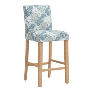 Bar stool in Loiret Blue For Sale
