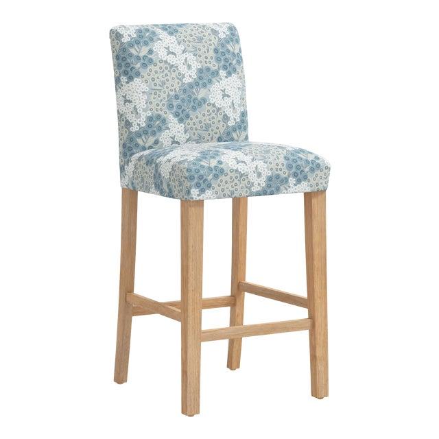 Bar stool in Loiret Blue For Sale