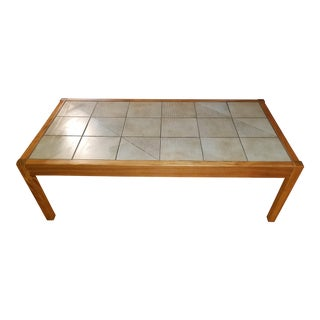 Gangso Mobler Mid-Century Teak & Tile Coffee Table
