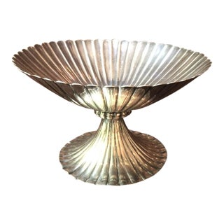 Antique Italian Silver-Plated Footed Bowl For Sale