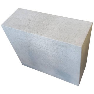 Faux Concrete Ocassional Side Table For Sale