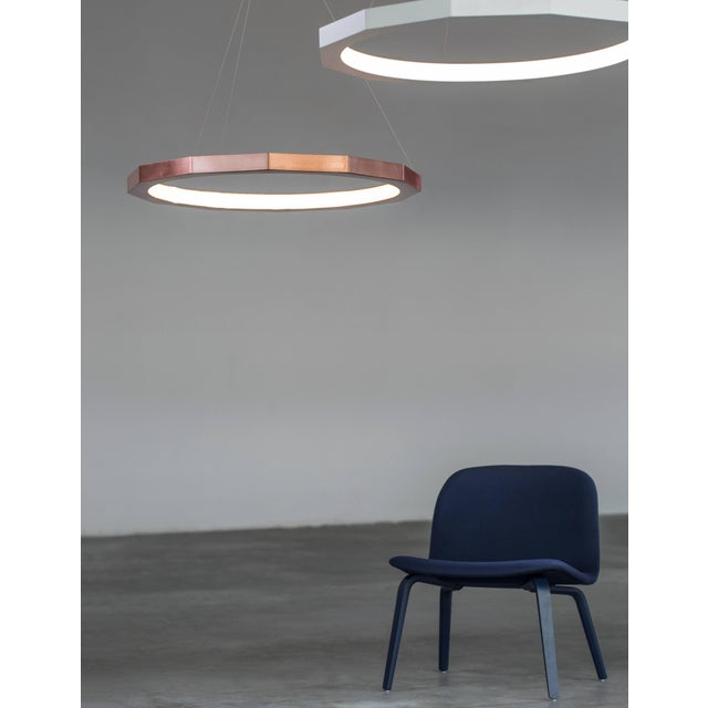 Contemporary Matthew McCormick 28 Dodeca Pendant Drop Chandelier, Copper For Sale - Image 3 of 9
