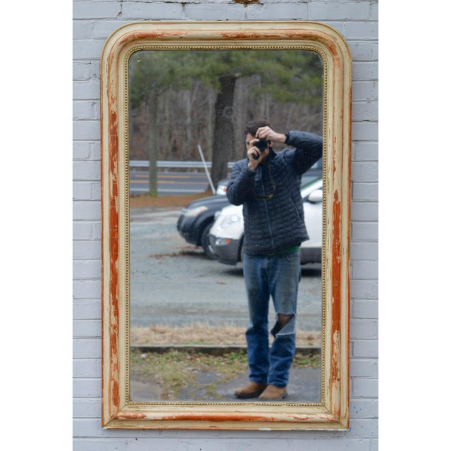 Large 19th Century Louis Philippe Mirror With Original Reflector For Sale - Image 12 of 12