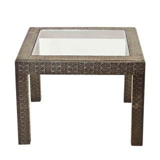 Vintage Silver Embossed Coffee Table