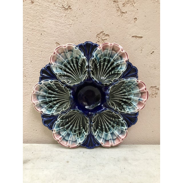 C.1890 Very Rare French Majolica Oyster Plate Fives Lille For Sale - Image 11 of 11