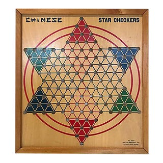 1940s Milton Bradley Chinese Checkers Board For Sale