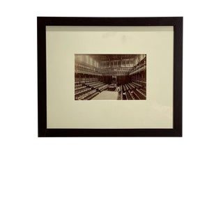 Antique Photograph of House of Commons For Sale