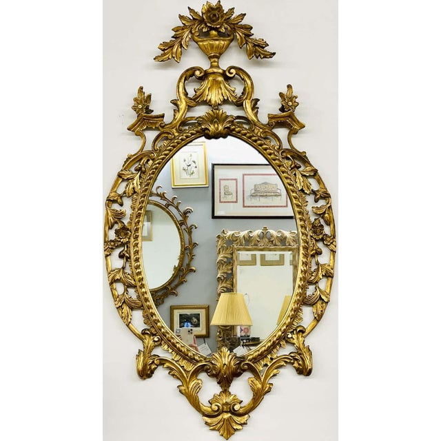 Italian Pair Gilt Wood Wall or Console Mirrors For Sale - Image 3 of 12