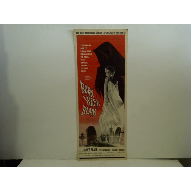 "A Vintage Movie Poster -- ""Burn Witch Burn"" -- Starring -- Janet Blair -- 62/186 -- Copyright 1962 -- American..."