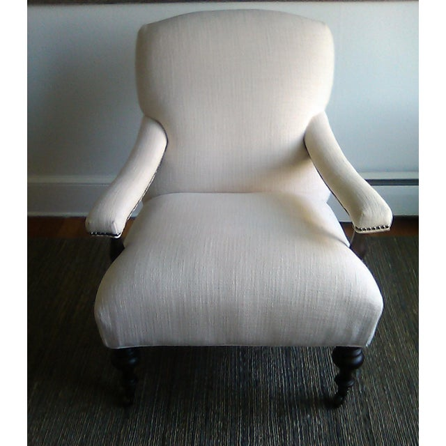 Lillian August Custom Made Lee Industry Fireside Lounge Chair For Sale In New York - Image 6 of 10