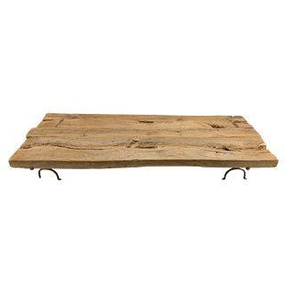Monumental Low Table Made From Ancient Timbers For Sale