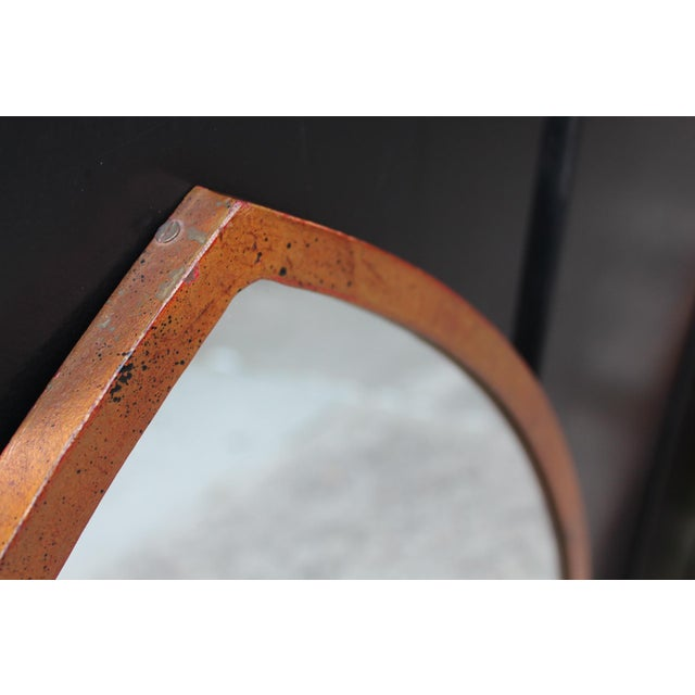 Mid-Century Arched Wall Mirrors With Painted Brass Frames - a Pair For Sale - Image 4 of 6