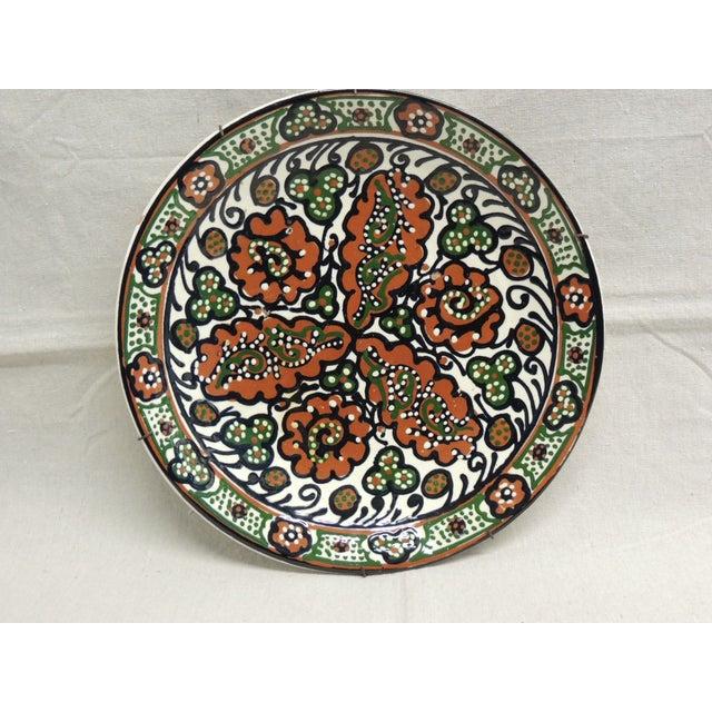 Vintage Moroccan Ceramic Plate - Image 2 of 4