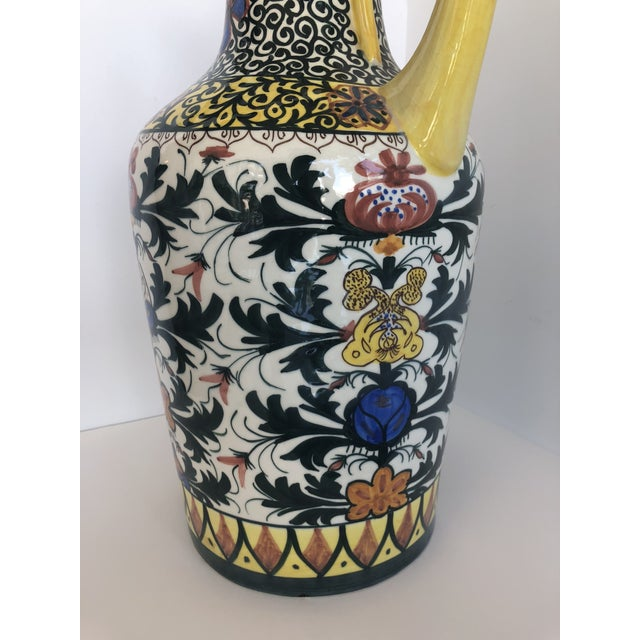 Blue Vintage Boho Glazed Ceramic Candle Holder -- Spain For Sale - Image 8 of 13