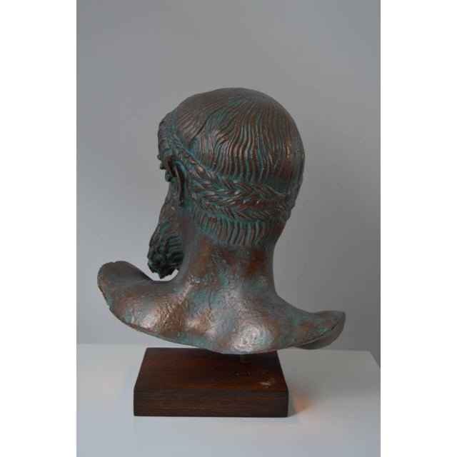 "Mediterranean Modern, Illuminated-Sculpture of the ""Artemision Zeus"" or ""God From the Sea"" For Sale - Image 3 of 5"
