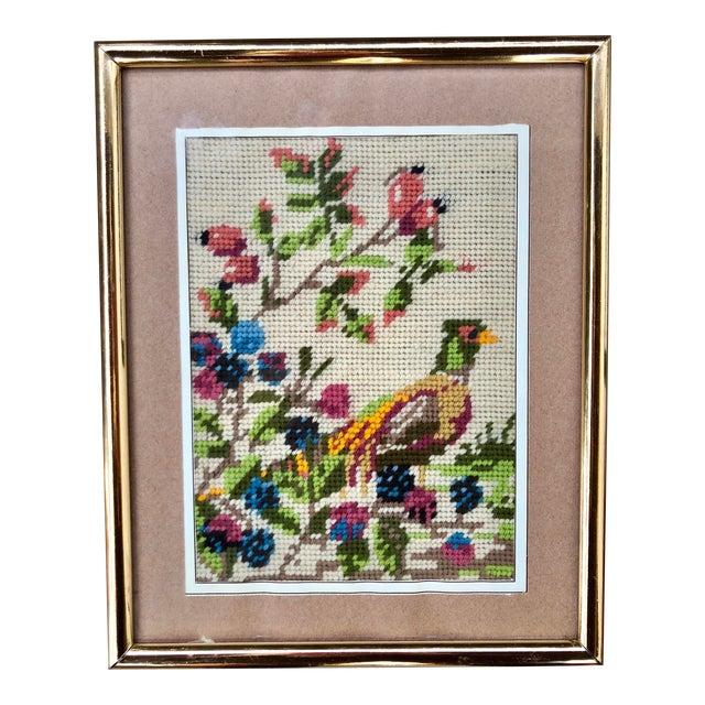 Multicolored Pheasant Needlepoint - Image 1 of 4