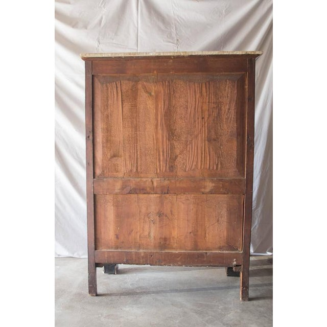 19th Century French Empire Marble Top Secretaire For Sale - Image 9 of 11