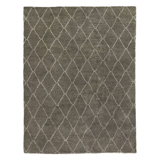 Weighton Gray Hand knotted Wool Area Rug - 9'x12' For Sale