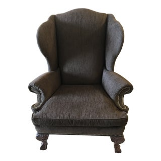 Ethan Allen Classic Queen Anne Wingback Giles Chair For Sale