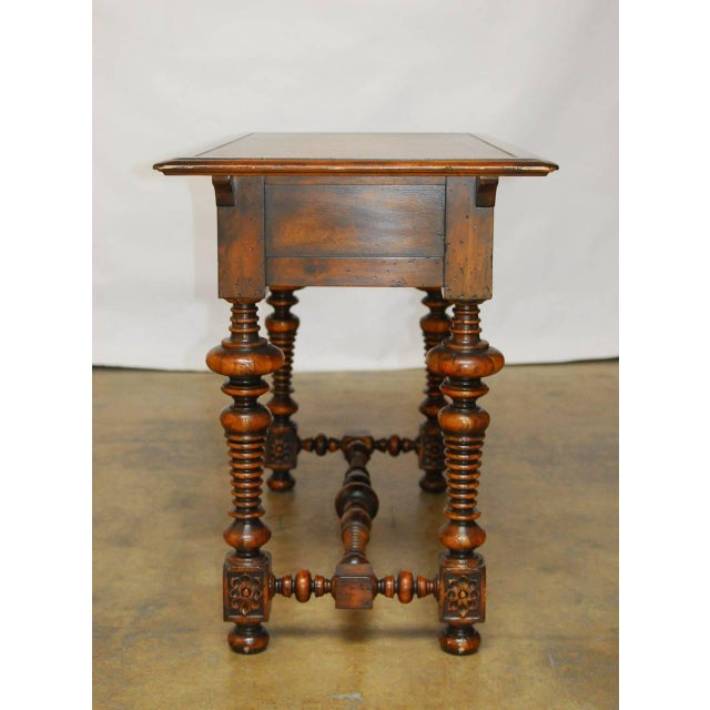 French Louis XIII Leather Top Writing Table - Image 2 of 7