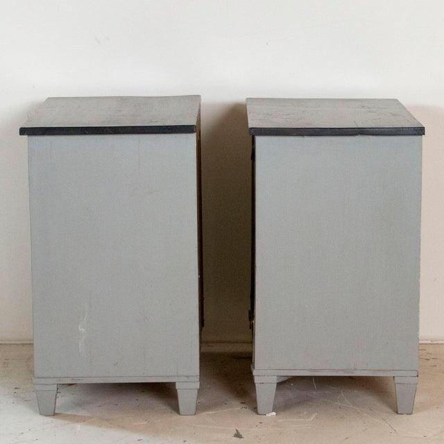 19th Century Antique Swedish Gustavian Nightstands-a Pair For Sale - Image 6 of 9