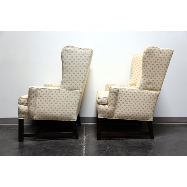 Chippendale Style Mahogany Wing Back Chairs by Conover Chair Co - Pair For Sale In Charlotte - Image 6 of 11
