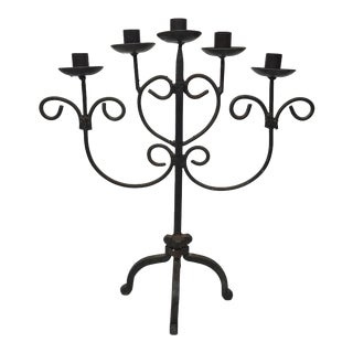Antique Wrought Iron Candelabra