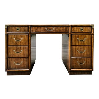 Vintage Drexel Accolade Campaign Desk For Sale