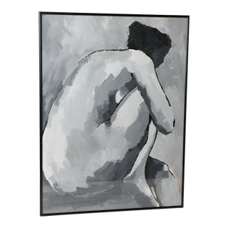 "Original Nude Abstract Expressionist Painting by Bruno, Framed 1998 ""Body Work 21"" For Sale"
