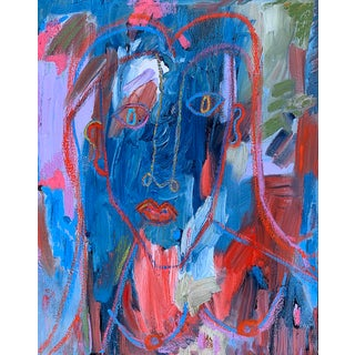 """""""November"""" Contemporary Figurative Abstract Oil Painting by Monica Shulman For Sale"""