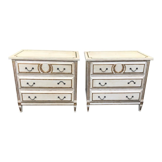 Pair of Nancy Corzine Designer Commodes or Nightstands For Sale