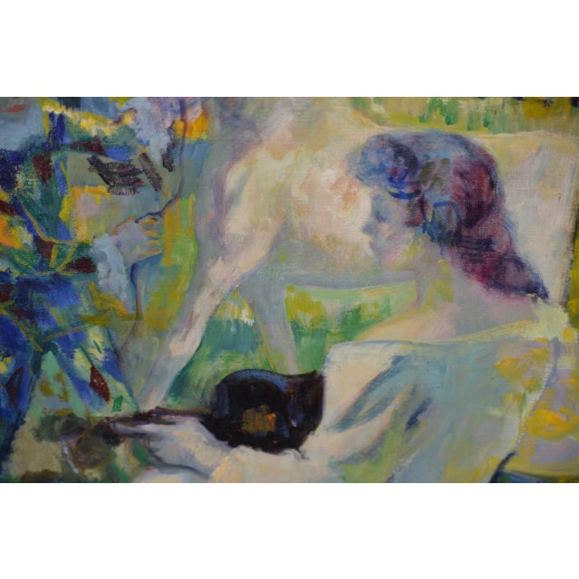"Paint Luigi Corbellini (1901-1968) ""The White Horse"" Original Oil Painting C.1950s For Sale - Image 7 of 10"