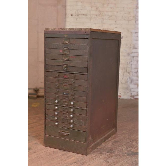 1940s Industrial Browne-Morse Filing Cabinet For Sale - Image 10 of 10