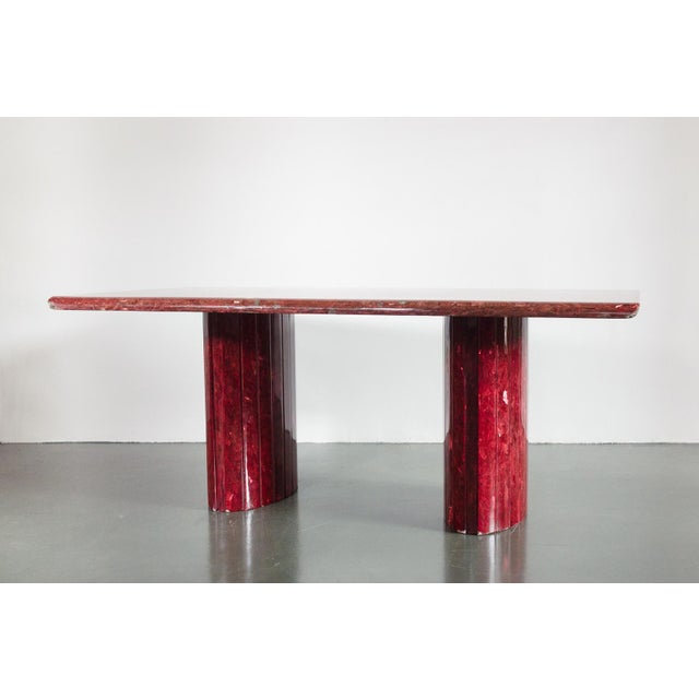 Red Quartz Dining Table For Sale - Image 10 of 10