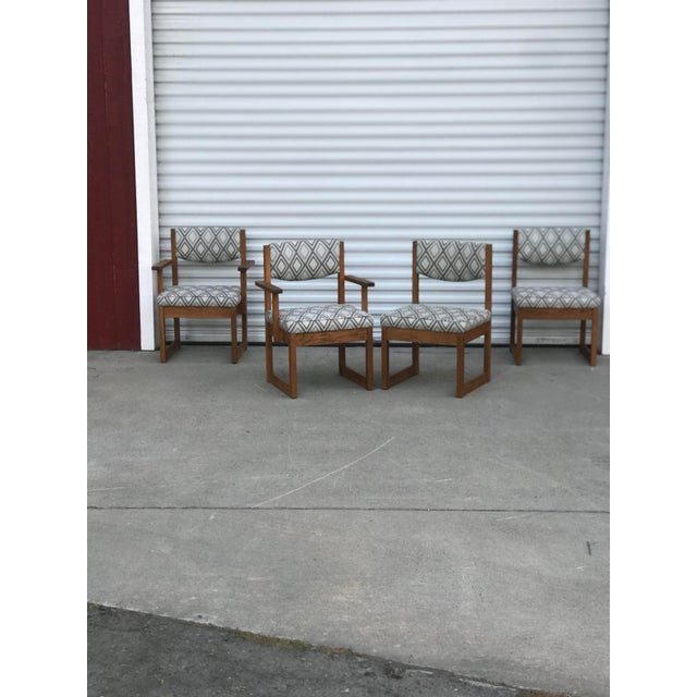 Brown Mid Century Drexel Heritage Dining Chairs- Set of 4 For Sale - Image 8 of 11